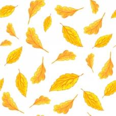 黄叶图案设计