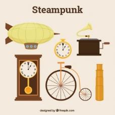 在蒸汽朋克风格的多种元素