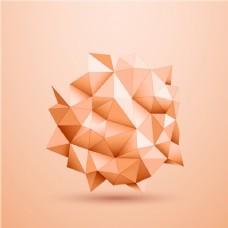 粉红色背景与几何图形