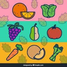 平板蔬菜水果横幅