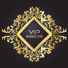 VIP的金色背景