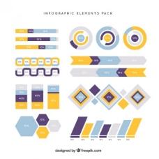 几何信息图表元素