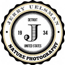 圆形创意标签logo