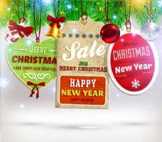 圣诞装饰圣诞树贴纸
