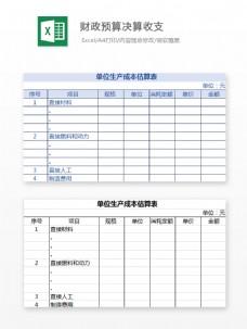 财政预算决算收支Excel文档