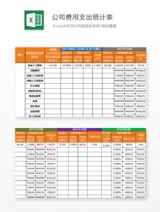 公司费用支出统计表Excel文档