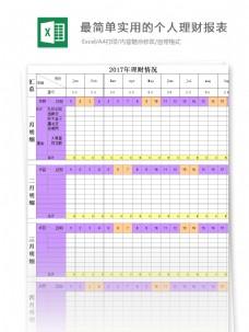 最简单实用的个人理财报表Excel模板