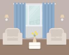 家居客厅插画