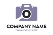 紫色相机标志图片