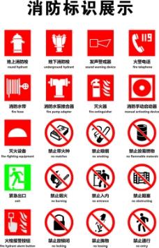 消防标识矢量素材