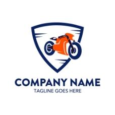 盾牌摩托车标志图片