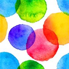 彩色圆形水墨图片