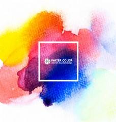 彩色水彩晕染背景矢量