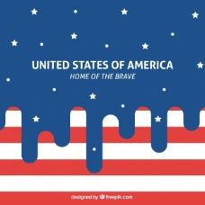 现代美国国旗背景