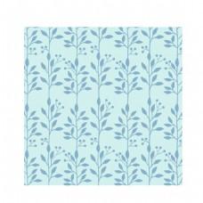 蓝色花纹装饰