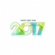 白色新年2017背景与几何形状