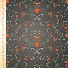 欧式复古花纹装饰画背景海报卡片