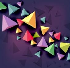 3d彩色三角型背景图