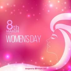 明亮的粉红女人日背景