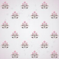 花朵底纹粉灰色花纹VI卡片矢量