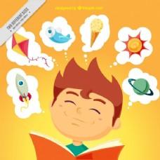 快乐儿童阅读背景