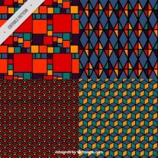 彩色图案的几何图案