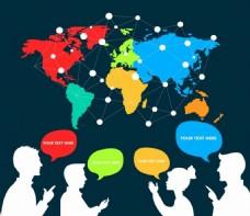 全球信息交流背景图