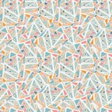 小三角形和白线的几何背景