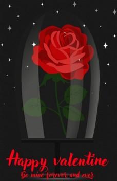 漂亮红色玫瑰花背景图