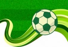 足球绿色广告背景