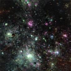 彩色星空背景图