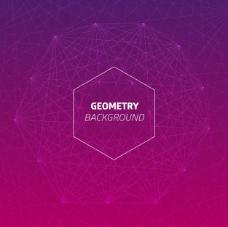 六边形动态几何背景