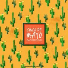 Cinco de Mayo的背景与仙人掌