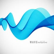 背景与蓝色波浪