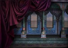 宫殿城堡画意H5风景图