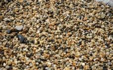 鹅卵石海滩背景