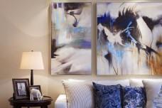 美式客厅软装效果图
