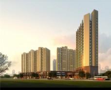 繁华城市小区建筑设计图