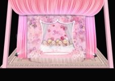 粉色迎宾效果图