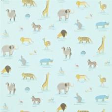 天蓝色动物布纹壁纸图片