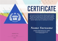 创意证书版式设计图片