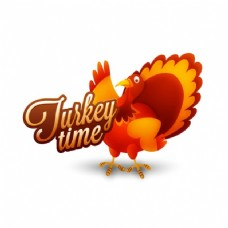 感恩节背景与土耳其棕色色调