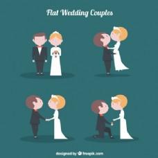 可爱的新婚夫妇