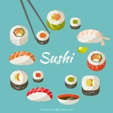 寿司的手绘品种