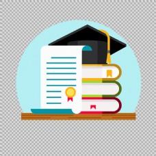 毕业主题元素免抠png透明图层素材