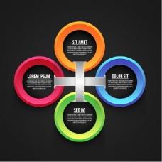 商业图表模板四轮选择