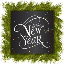 新年快乐,松木框架和五彩纸屑