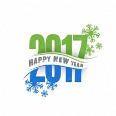 绿色和蓝色新年背景
