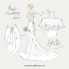 新娘礼服草图