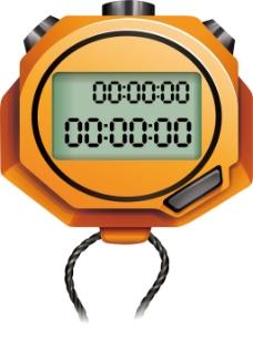 手绘秒表计时元素